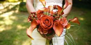 Orange Bridal Bouquets