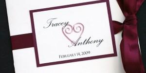 Burgundy Wedding Programs