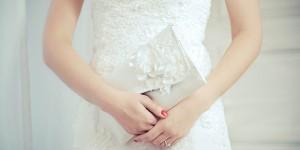 White Bridal Clutches
