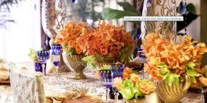 Orange Floral Centerpieces