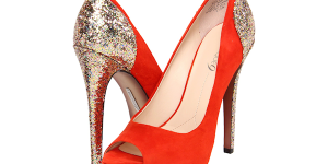 Orange Wedding Heels
