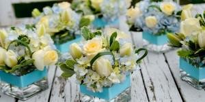 Blue Floral Centerpieces