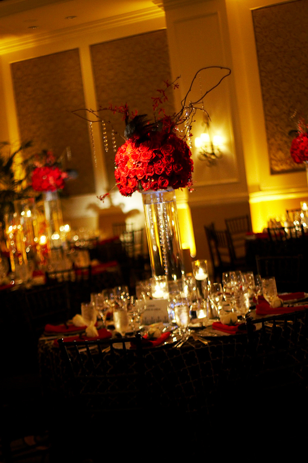 Red Floral Centerpieces Bitsy Bride