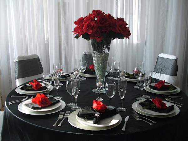 Red Black Silver And White Wedding Ideas On