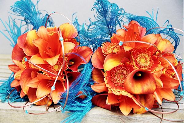 Orange Bridal Bouquets...