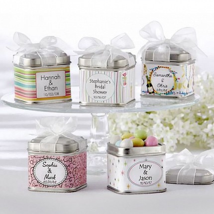 Personalized Wedding Favor Tins