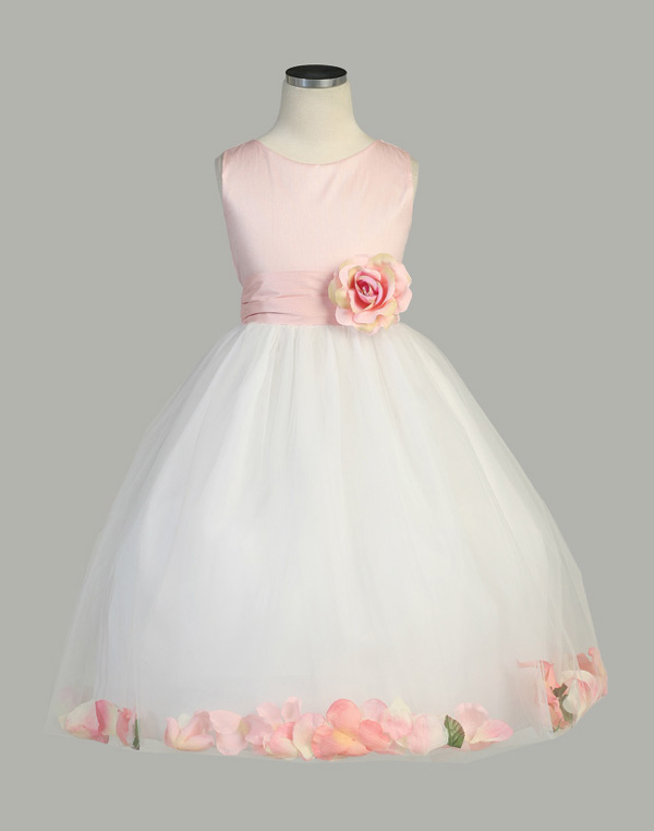 Pink white flower girl dress bitsy bride pink white flower girl dress mightylinksfo