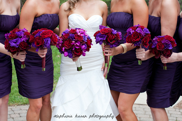 royal purple + red wedding | Flowers | Pinterest | Red ...