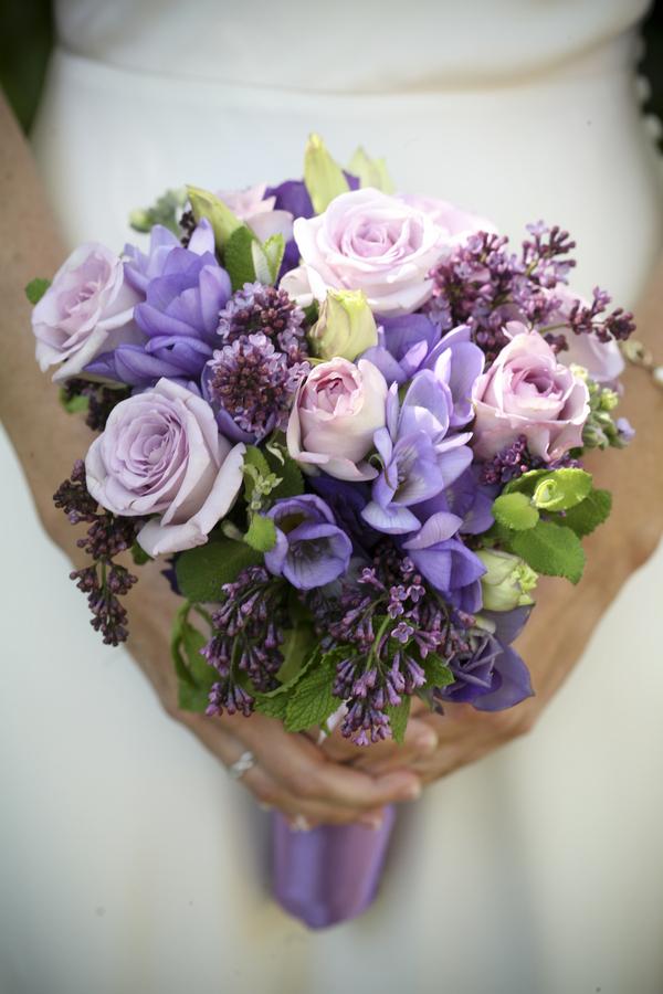 Purple Wedding Bride Bouquet Bitsy Bride
