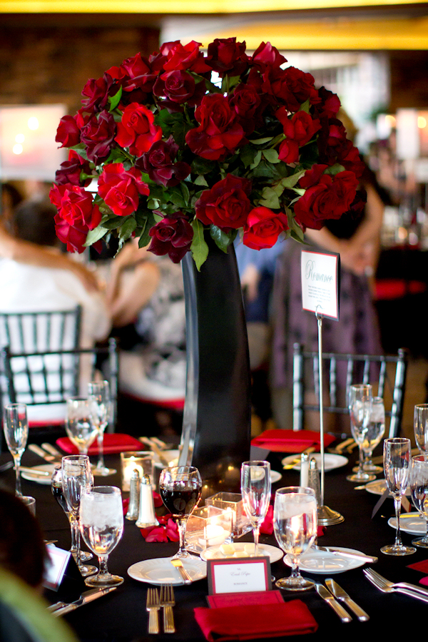 Tall Red Floral Centerpieces Bitsy Bride