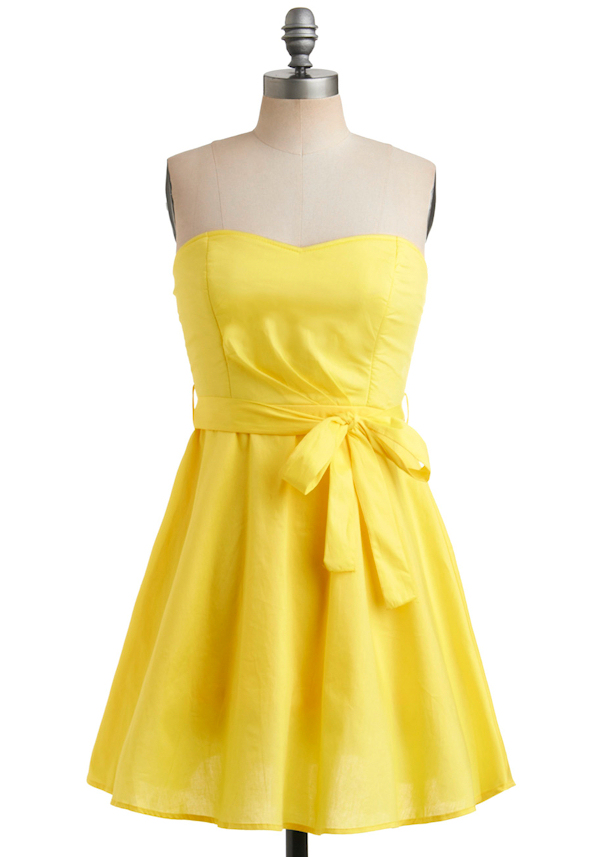 Yellow bridesmaid dresses bitsy bride for Yellow dresses for wedding