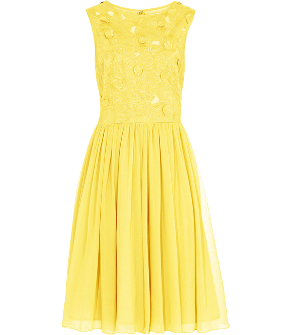 Country yellow bridesmaid dresses