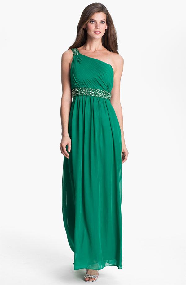 long green bridesmaid dress - Bitsy Bride