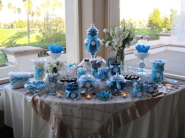 Blue White Wedding Candy Buffet Bitsy Bride