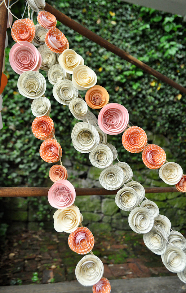 Paper Flower Wedding Garlands Bitsy Bride
