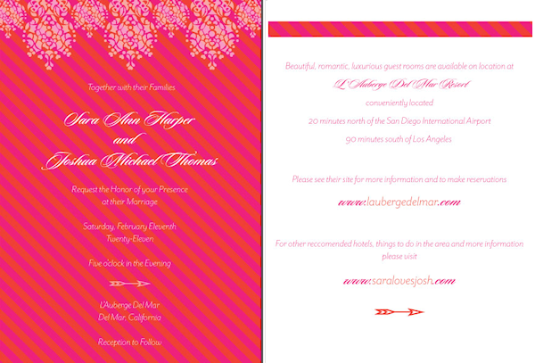 Pink Wedding Invitations Bitsy Bride