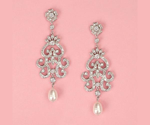 Pearl Chandelier Bridal Earrings Chandeliers Design – Pearl Chandelier Bridal Earrings