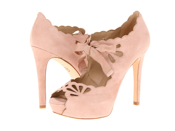 Pink High Heels For Wedding: Pale Pink Wedding Shoes